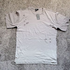 NWT mens Distressed Forever 21 shirt